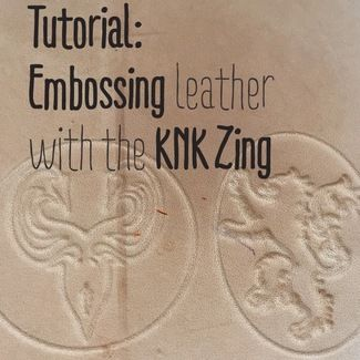 Tutorial Embossing Leather With The Knk Zing Knk Diy