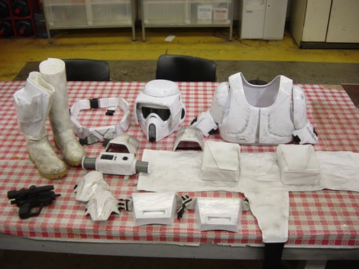 Nice checklist of the components for a Biker Scout (Scout Trooper) costume