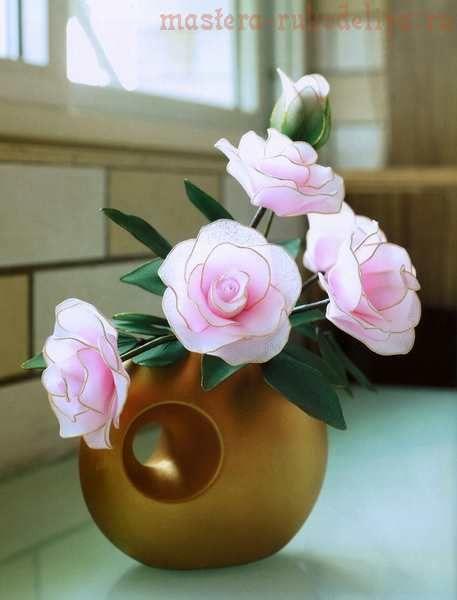 Мастер-класс по созданию цветов из капрона: Роза с бутоном
