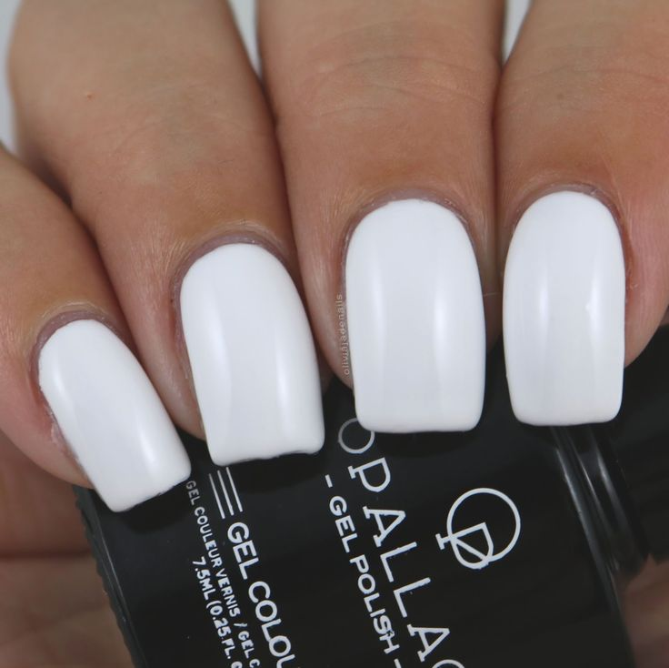 Opallac Gel Polish French Affair swatched by Olivia Jade Nails