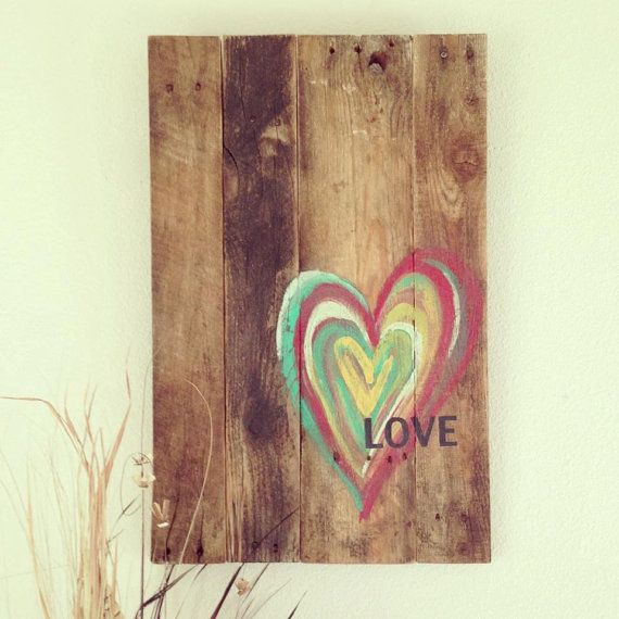 Wood Pallet Heart / Love Art by 1920Shoppe on Etsy, $70.00