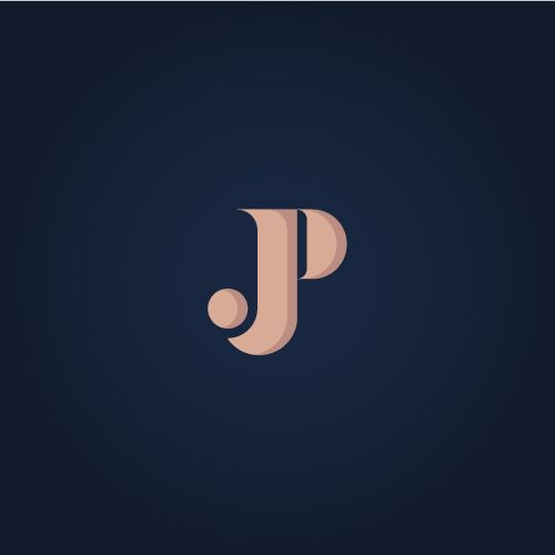 """Logo Design for a friend whose initials are """"JP"""". Completely unsolicited so I hope he enjoys the surprise, what do you think By SoyQuembre"""