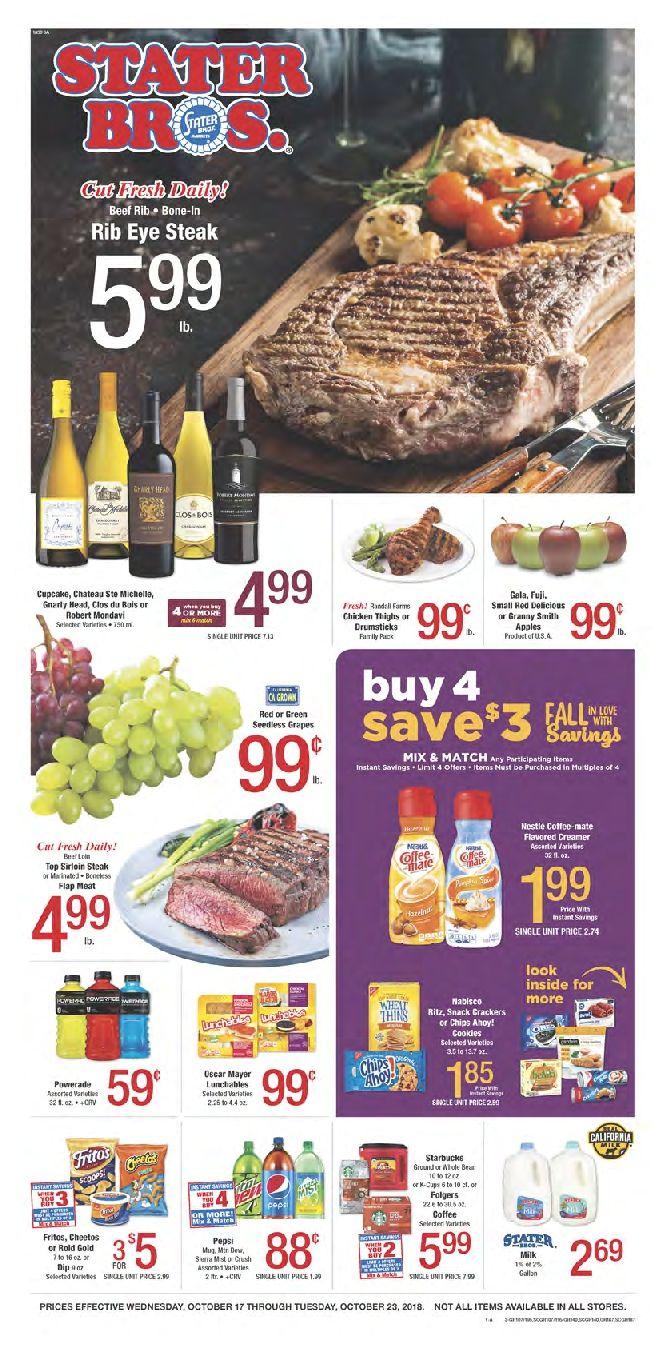 Stater Bros Weekly Ad Flyer September 25 October 1 2019 Weeklyad123 Com Weekly Ad Circular Grocery Stores Bakery Menu Weekly Ads Grocery