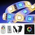 5-35m RGBW RGB+W LED Streifen Strip Leiste Band + RF/Wand Controller + Netzteil