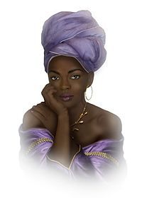 Lauryn Hill -A tradigital art representation, by artist boki.b, of Hill in her late 1990s appearance