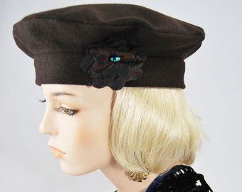Chocolate brown beret