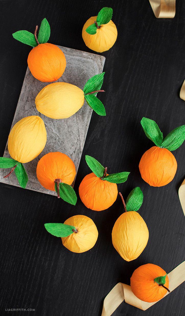 DIY Crepe Paper Lemons