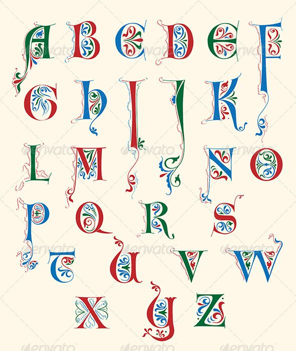 Medieval letters stock photos