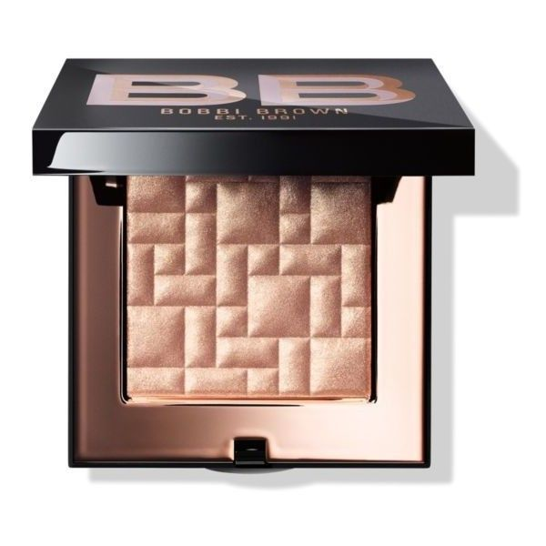 Bobbi Brown Afternoon Glow Highlighting Powder found on Polyvore featuring beauty products, makeup, face makeup, face powder, afternoon glow, highlight face makeup, powder brush and bobbi brown cosmetics