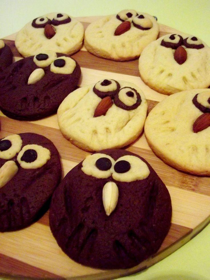 Black&White Owl Cookies by simonacallas