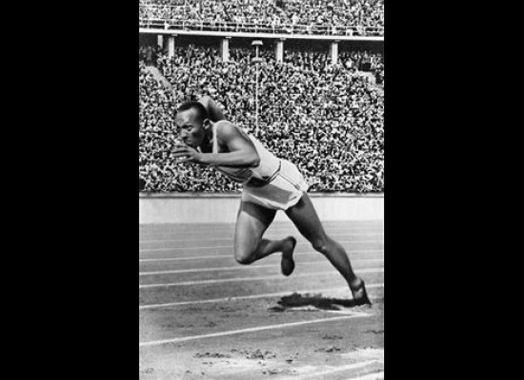 Jesse Owens - 1936 Berlin:  Jesse Owens won four gold medals in Germany, providing a very public counterpoint to Adolf Hitler's views on Aryan superiority.