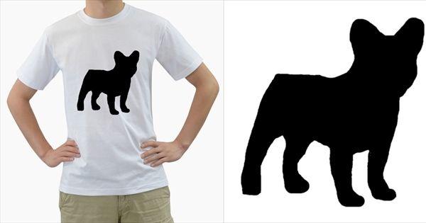 French+Bulldog+Silo+Black+Ls+Men's+T-Shirt+(White)+