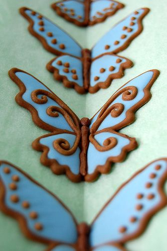 How to make royal icing butterflies.