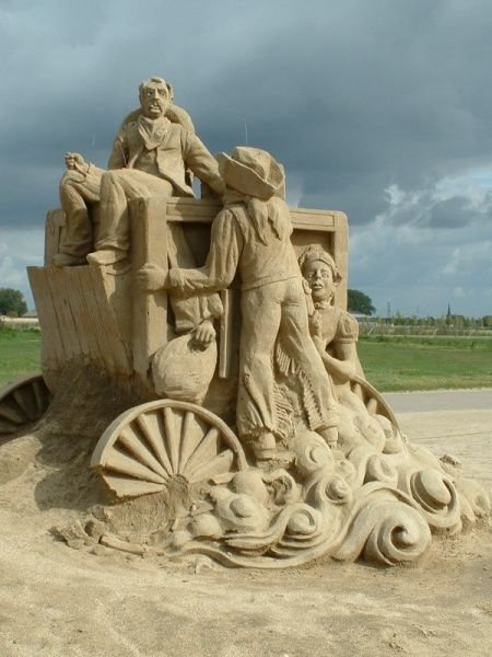Sand art.