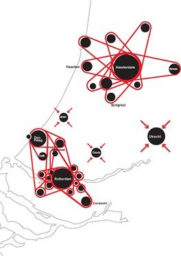 OMA Koolhaas DELTA METROPOOL, NETHERLANDS, RANDSTAD, 2002  Large scale urban master plan for urbanized region of the Netherlands