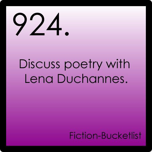 Discuss poetry with Lena
