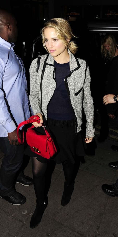 Dianna was spotted arriving with Gwyneth Paltrow, Stella McCartney and Naya Rivera at Jay Z and Kanye Wet's Party held at DSTRKT Club in London earlier today.