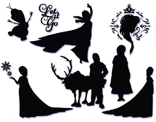 frozen silhouettes - Google Search