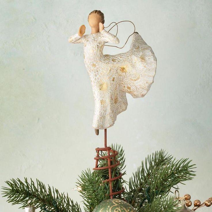 willow tree song of joy angel christmas tree topper by susan lordi - Angel Christmas Tree