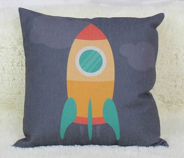 Kids Rocket Pillow Cover by UniikStuff on Etsy https://www.etsy.com/listing/478200629/kids-rocket-pillow-cover
