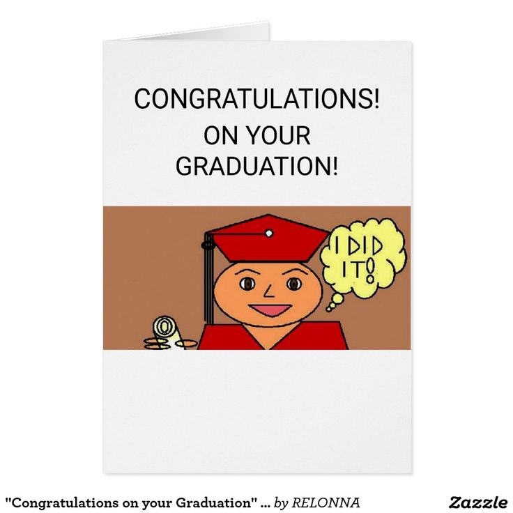 """""""Congratulations on your Graduation"""" Greeting Card"""