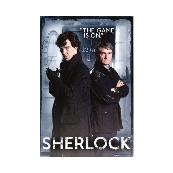Sherlock - Door Poster ($9.99) ❤ liked on Polyvore featuring home, home decor, wall art, movies, movie posters, movie wall art, sherlock poster, door wall art and sherlock holmes poster