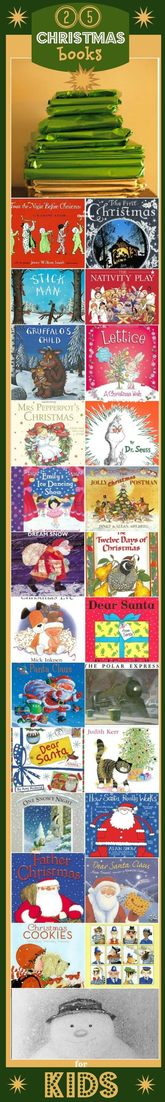 25 CHRISTMAS books for kids. Perfect for ADVENT: create a FUN alternative advent countdown with a festive book every day..
