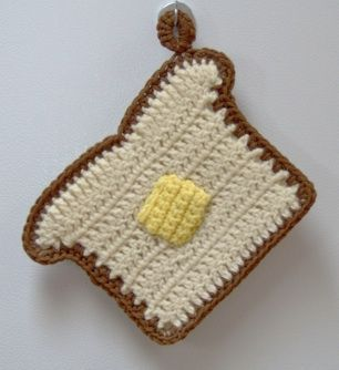 Crocheted Toast potholder