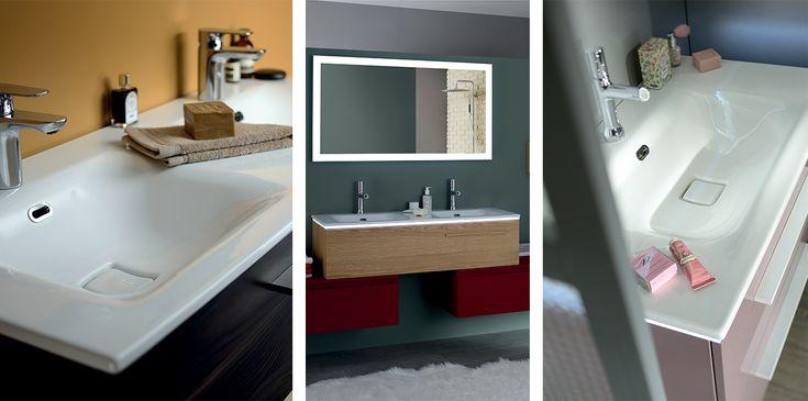 Tables avec vasques intégrées - Sanijura  Salle de bain