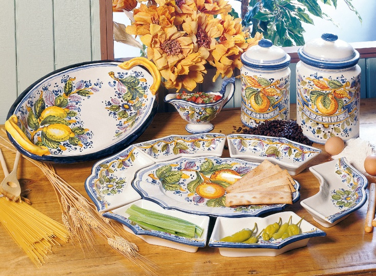 Table Decor Amalfi Inspired Italian Pottery Tablescape & Italian Inspired Dinnerware - Castrophotos