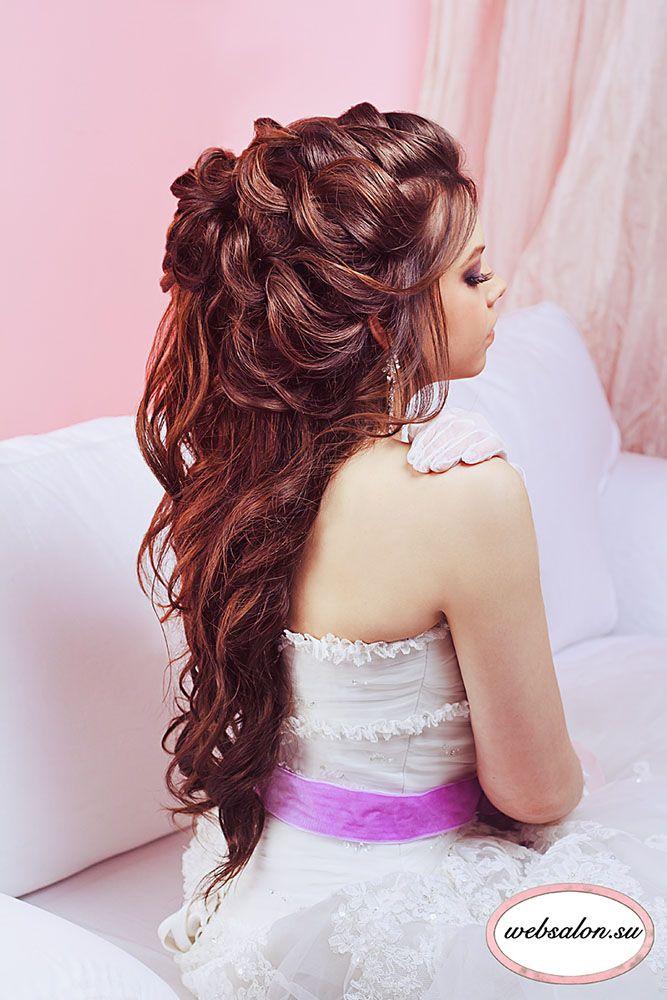 Half Up Half Down Wedding Hairstyles Ideas ❤ See more: http://www.weddingforward.com/half-up-half-down-wedding-hairstyles-ideas/ #weddings