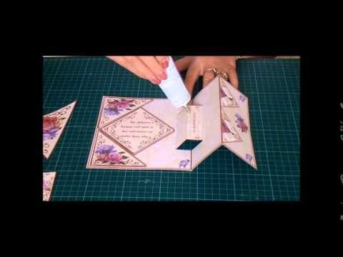 Established CUP TV Presenter and Crafters favourate Carole Dunne makes a beautiful Fold back pop-up - Belle Epoque Roses. This design reference number cup577...