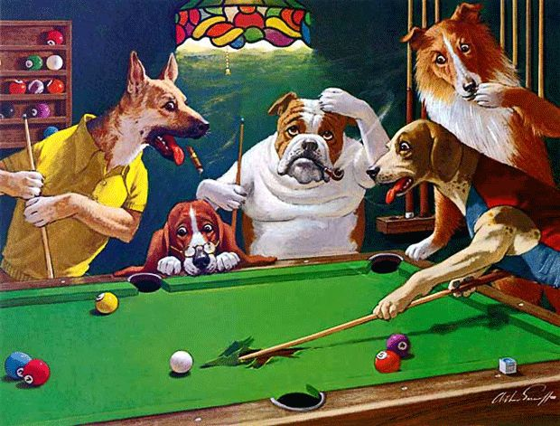 15 best dogs playing pool images on pinterest doggies dogs and frames arthur sarnoff dogs playing pool arthur sarnoff sarnoff s best known painting keyboard keysfo Image collections
