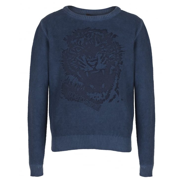 Roberto Cavalli Junior Boys Navy Jersey New Childrenswear Autumn/Winter