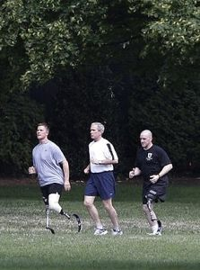 President Bush's photo opportunity with disabled veterans