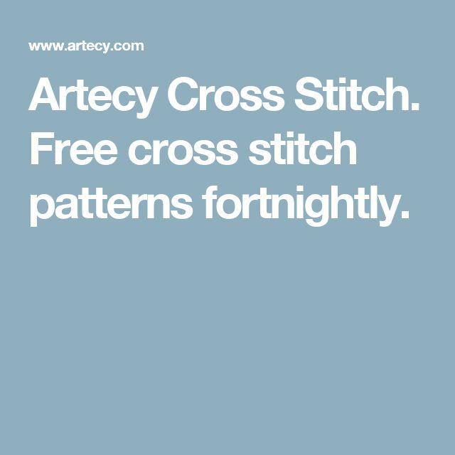 Artecy Cross Stitch. Free cross stitch patterns fortnightly.