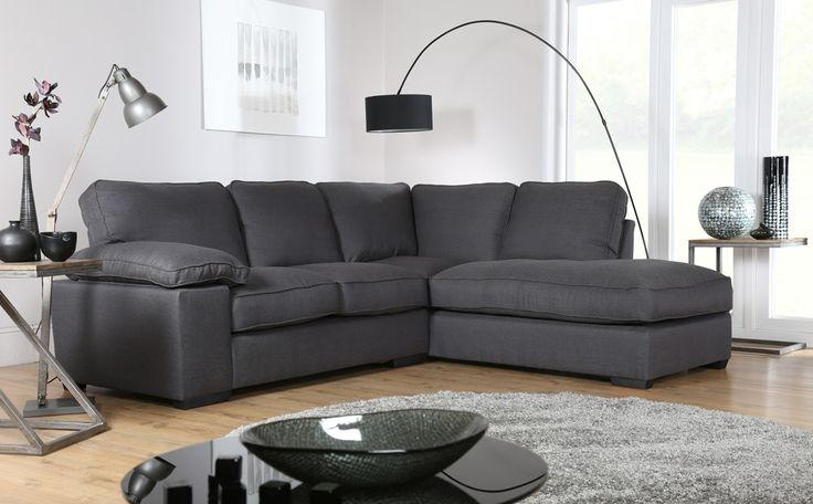 Buoyant Cassie Costa Charcoal RHF Fabric Corner Sofa Only £799.99 | Furniture Choice