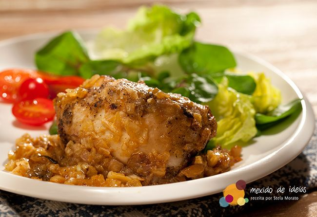 #Receita: Rolinho de frango com cafe, por @mexidodeideias