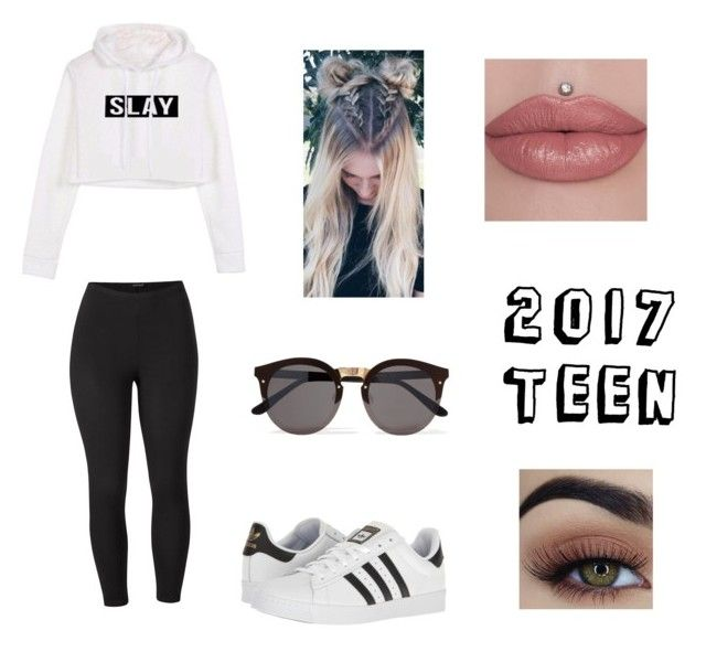 """2017 Teen"" by nat-12 ❤ liked on Polyvore featuring adidas, Illesteva, Venus and plus size clothing"