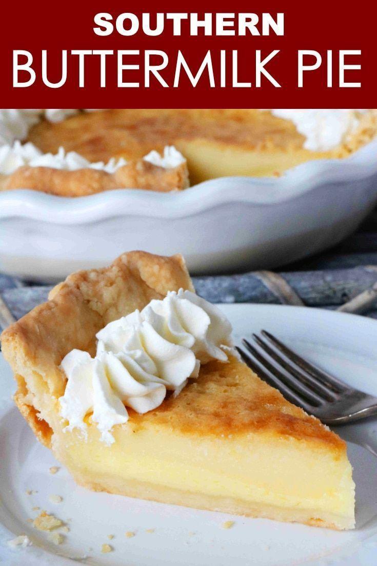 The Best Buttermilk Pie Recipe The Anthony Kitchen Recipe Buttermilk Pie Recipe Buttermilk Pie Easy Pie Recipes