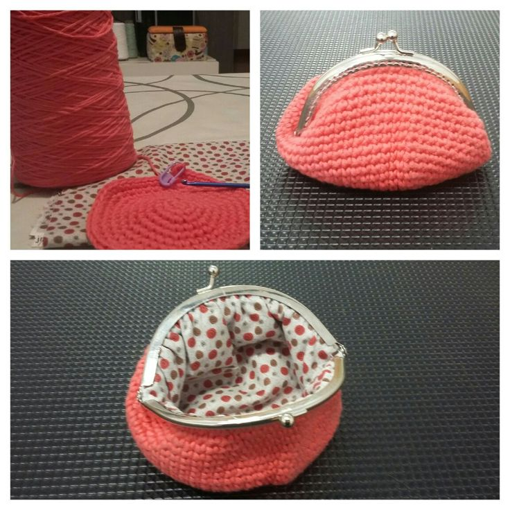 Monedero coral crochet