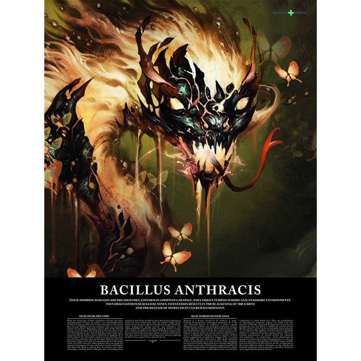 "Bacillus Anthracis 18"" x 24"" poster"
