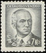 Znaczek: Dr. Edvard Beneš (1884-1948), president (Czechosłowacja) (Portraits) Mi:CS 472,Sn:CS 299,Yt:CS 414,AFA:CS 328,POF:CS 425