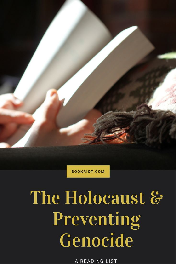 A book list about The Holocaust and preventing genocide.