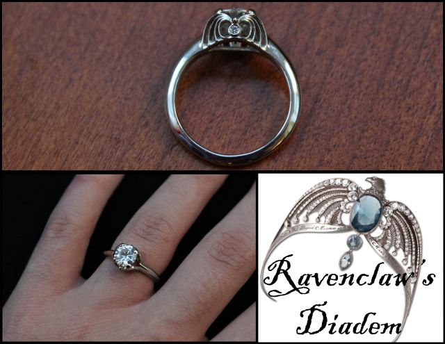 A gorgeous and subtle Harry Potter Ravenclaw ring! Totally saving this for the wedding folder...