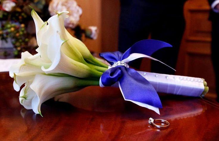 Bukiet ślubny z kalli