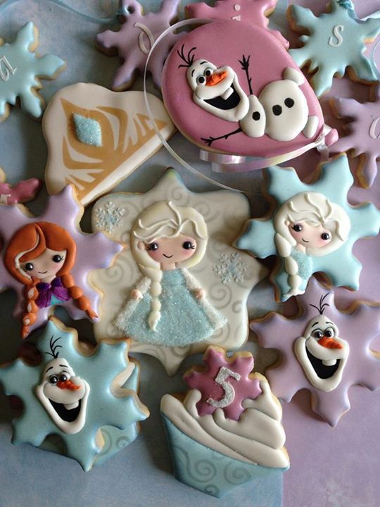 Birthday Frozen cookies