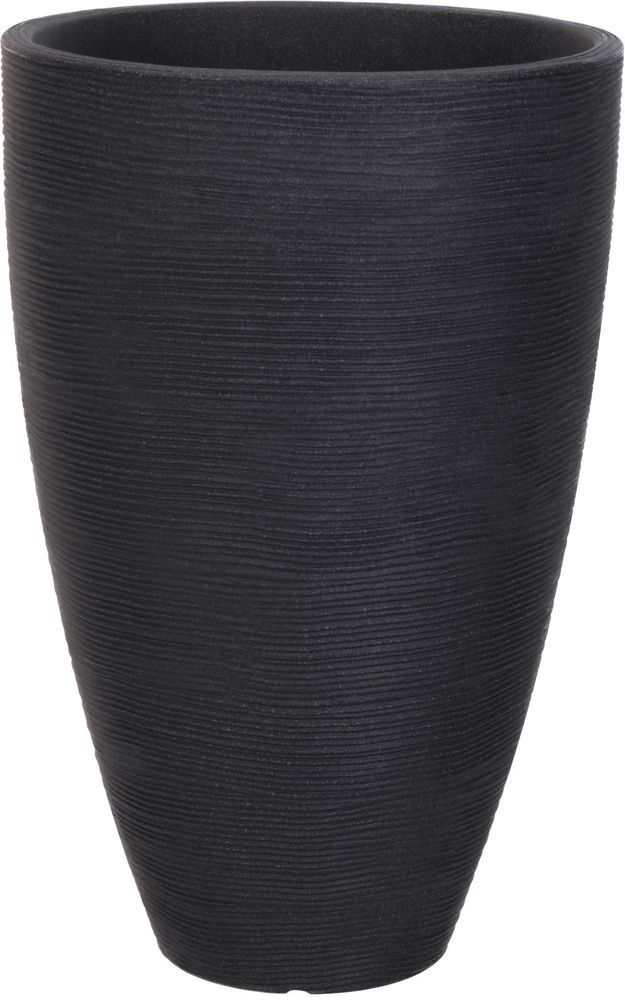 Extra Large Ribbed Charcoal Planter Plant Pot 61cm Tall 39cm Wide Koop Large Garden Pots Large Planters Planters