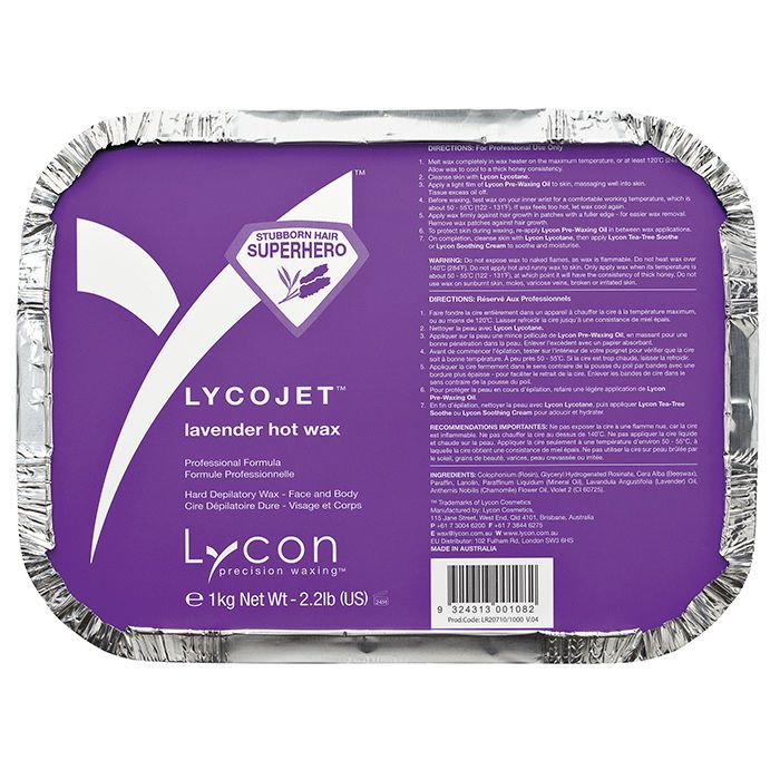 NEW Lycon Lycojet Lavender Hot Wax 1kg in Health & Beauty, Shaving & Hair Removal, Waxing Supplies | eBay!