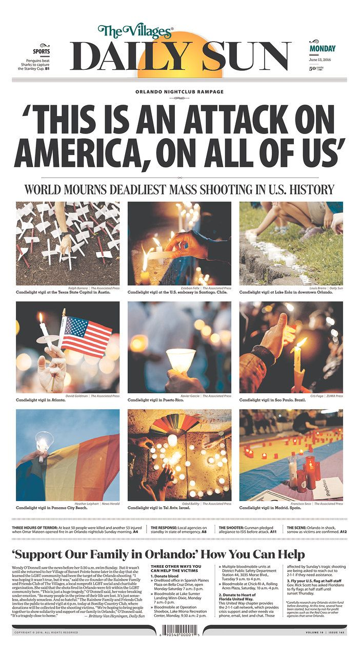 Every morning, more than 800 newspapers from around the world electronically submit their front pages to the Newseum to be part of Today's Front Pages online exhibit.